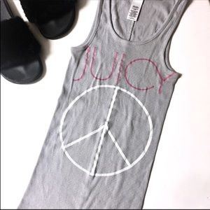 ⬇️$13 Juicy Couture | Peace Love Heart Ribbed Tank